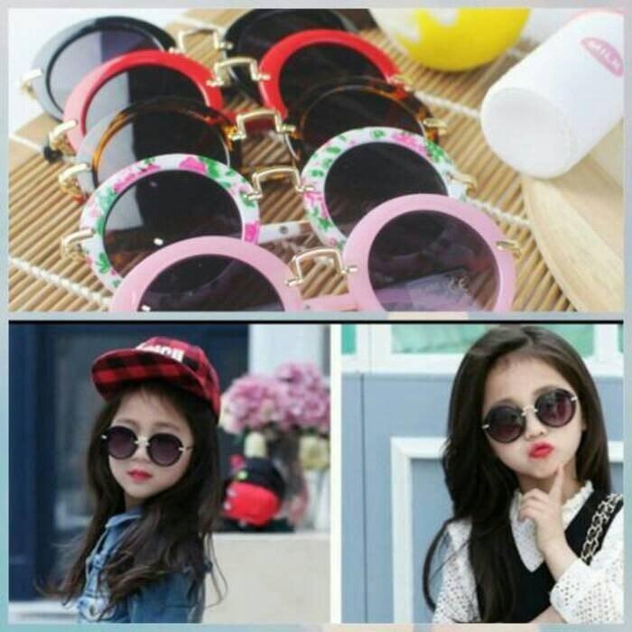 kacamata gaul anak fashion korea kekinian hitam sunglasses lucu unik