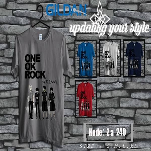 Kaos ONE OK ROCK Tag Original Gildan Softstyle