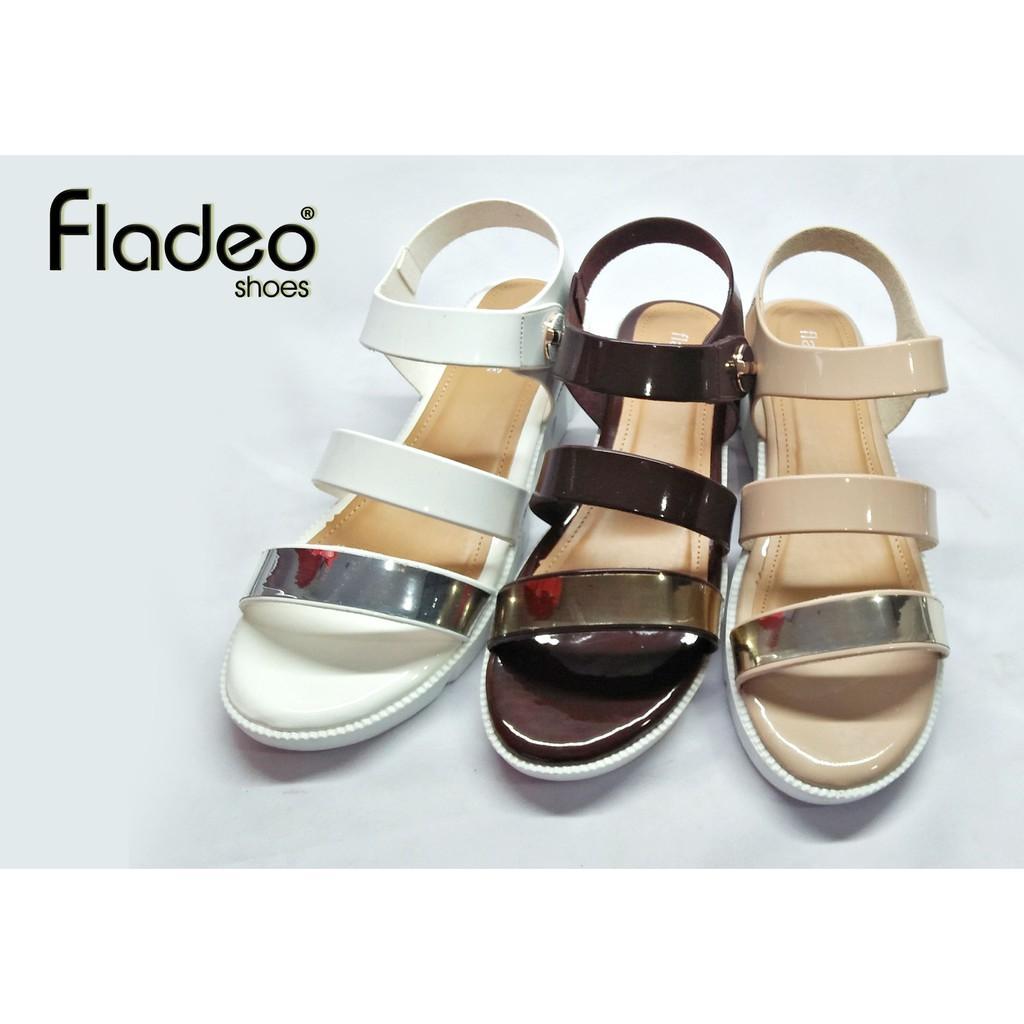 New Fladeo sandal wanita tampilan stylish / LDT215-2RV-BRW-CRM-WHT