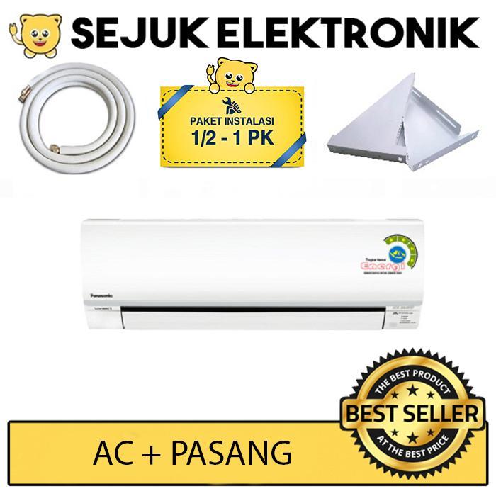 Panasonic CS-KN5SKJ + GRATIS Pasang (Pipa&Kabel 5m, Bracket) Ac Split 1/2 PK Low Watt - Putih (Free Ongkir JAKARTA)