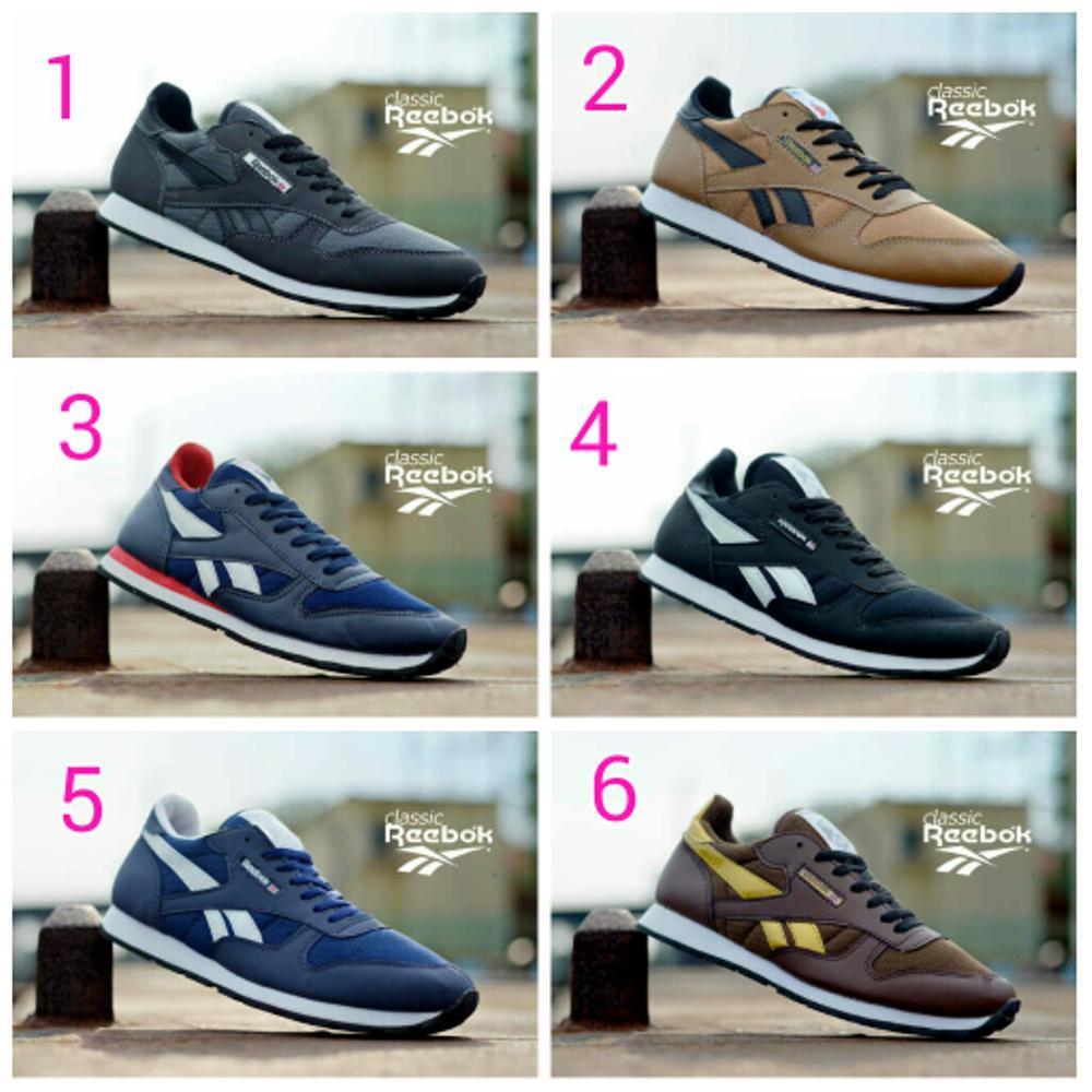 Promo Reebok Classic Men Shoes (Sepatu Running Jogging Sport Lari Tennis af1fcb1a6b