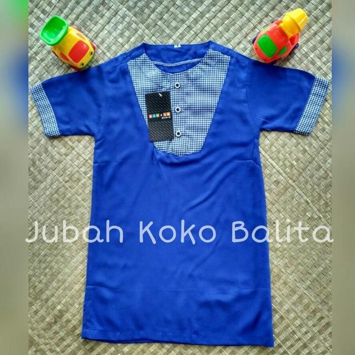 Jubah Koko Balita (Koko turki / busana muslim anak / gamis koko/Baju Lebaran