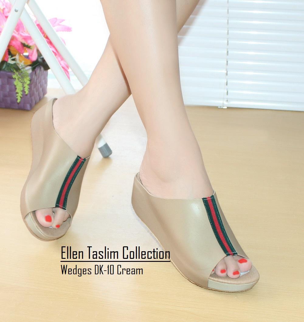Ellen Taslim DK-10 Sandal Wedges Vintage Terbaru