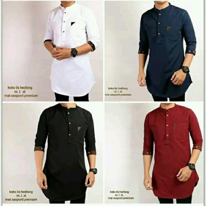 Fashion Muslim /  Atasan  /  Baju Koko  Dewasa / kemeja pria koko gamis pakistan / Gamis Pakistan Original