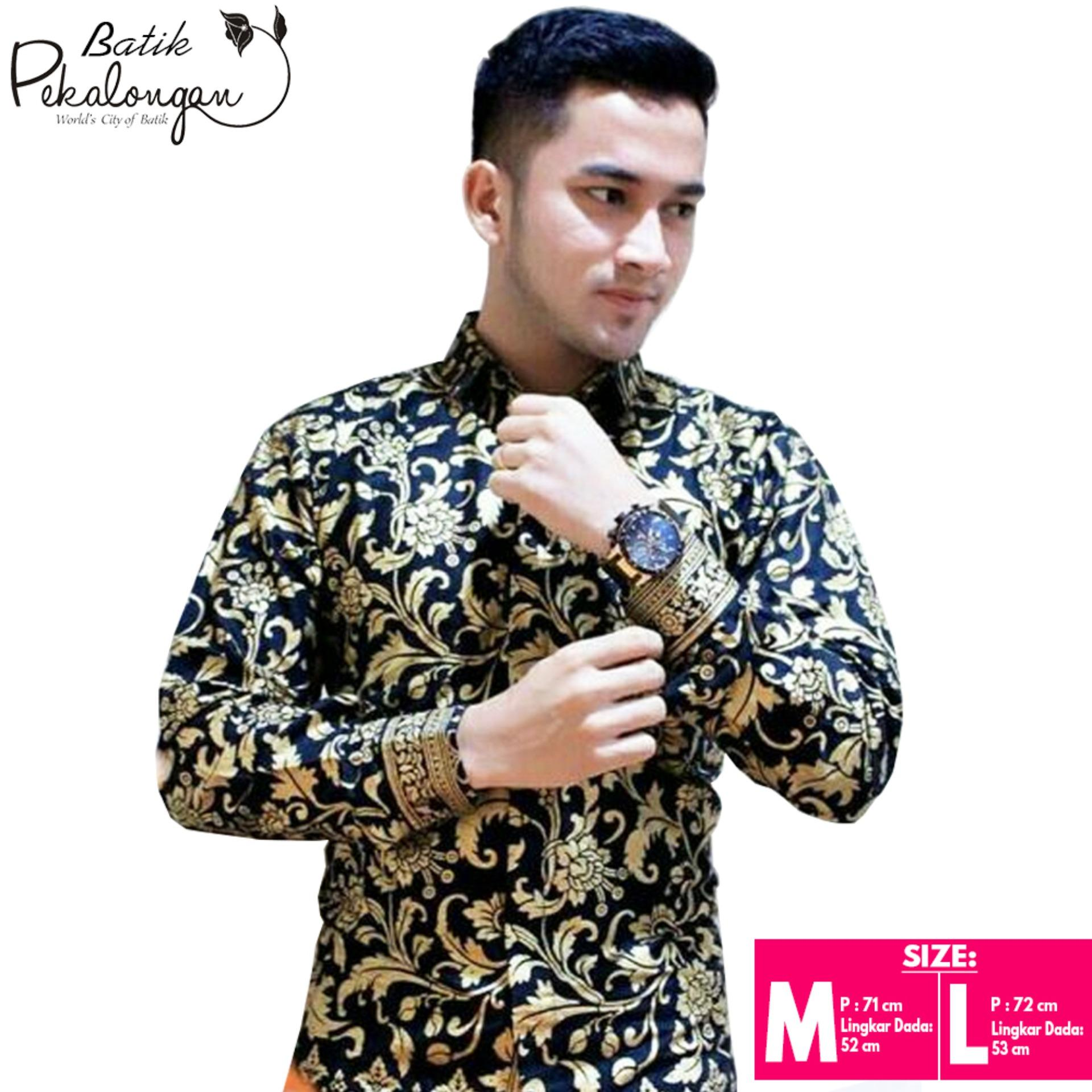 Baju Batik Kemeja Batik Pekalongan Larasati - Emas