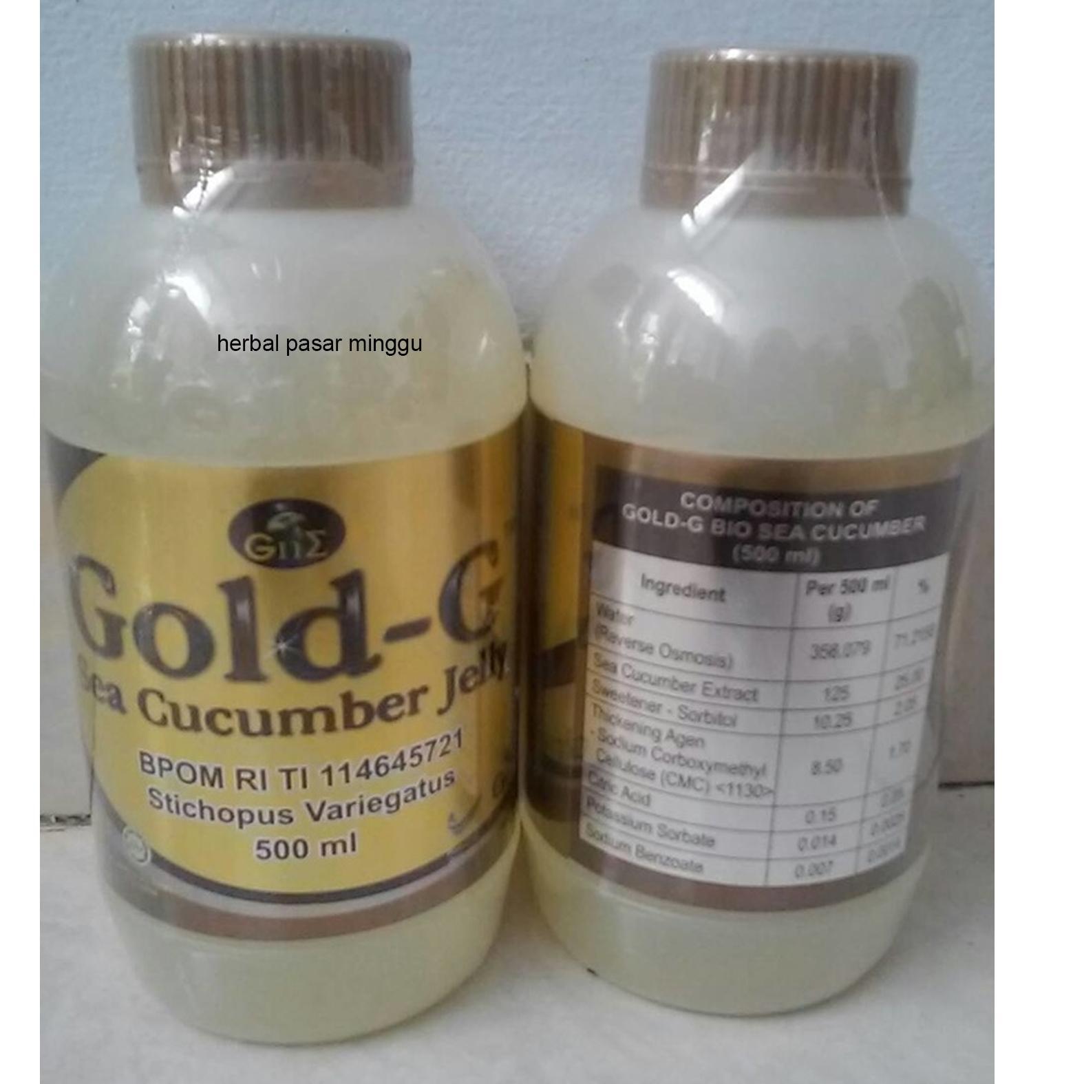 Gold G Paket 3 Botol Jelly Gamat Original 320 Ml Daftar Harga 320ml Source 500ml