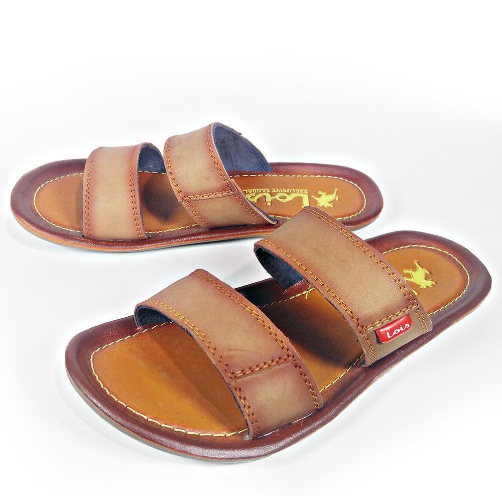 Hazel Al Zada - Fashion Sandal Kulit Pria Ban 2 Slop - Mocca