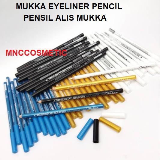 MUKKA EYELINER PENCIL / PENSIL ALIS MUKKA (4 VARIAN)