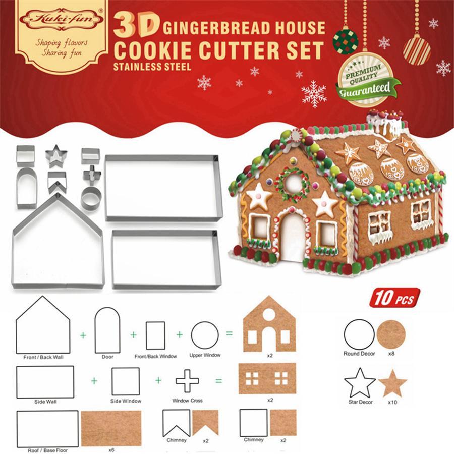 ... Cetakan Cutters Snowflake Biskuit Puding Fondant Mold Alat Kue DIY Xmas NatalIDR100445. Rp 107.842. Stainless Steel 3D Gingerbread House Cookie ...