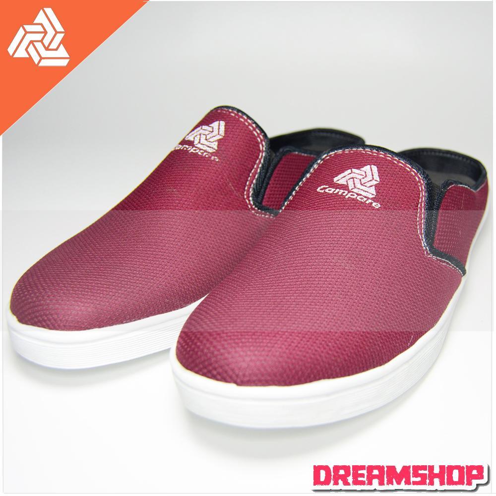 Dream Sepatu Sneakers Kets Kasual Pria Slip On Campare 005