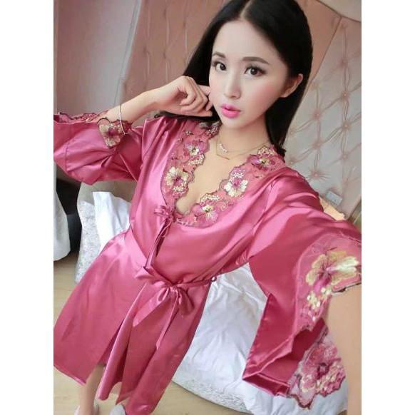 Promo !! Kimono Wanita Baju Tidur Kimono Murah Bajutidur Satin Daster Cantik - Stok Terbatas !!