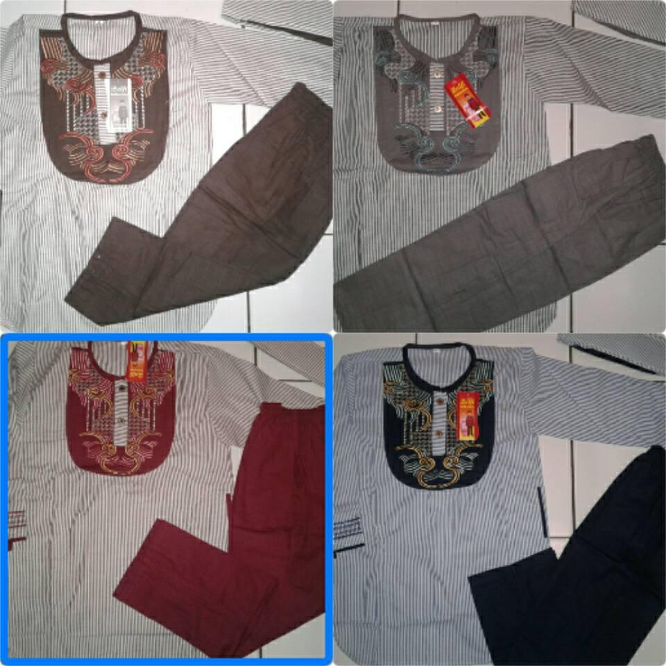 〘hArgA tERbARu〙 Baju koko pakistan anak motif garis