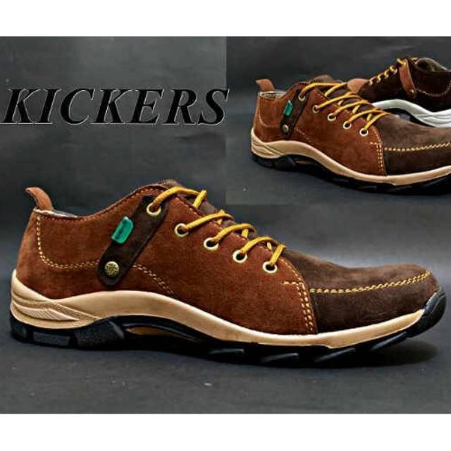 Kickers boits puma safety track ujung besi kulit asli kasual kerja pria santai jalan keren mura nike