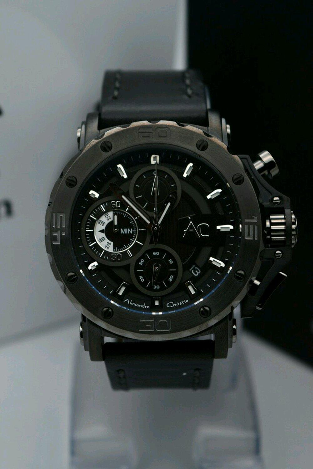 Jam Tangan Ac Collection Alexandre Christie Black