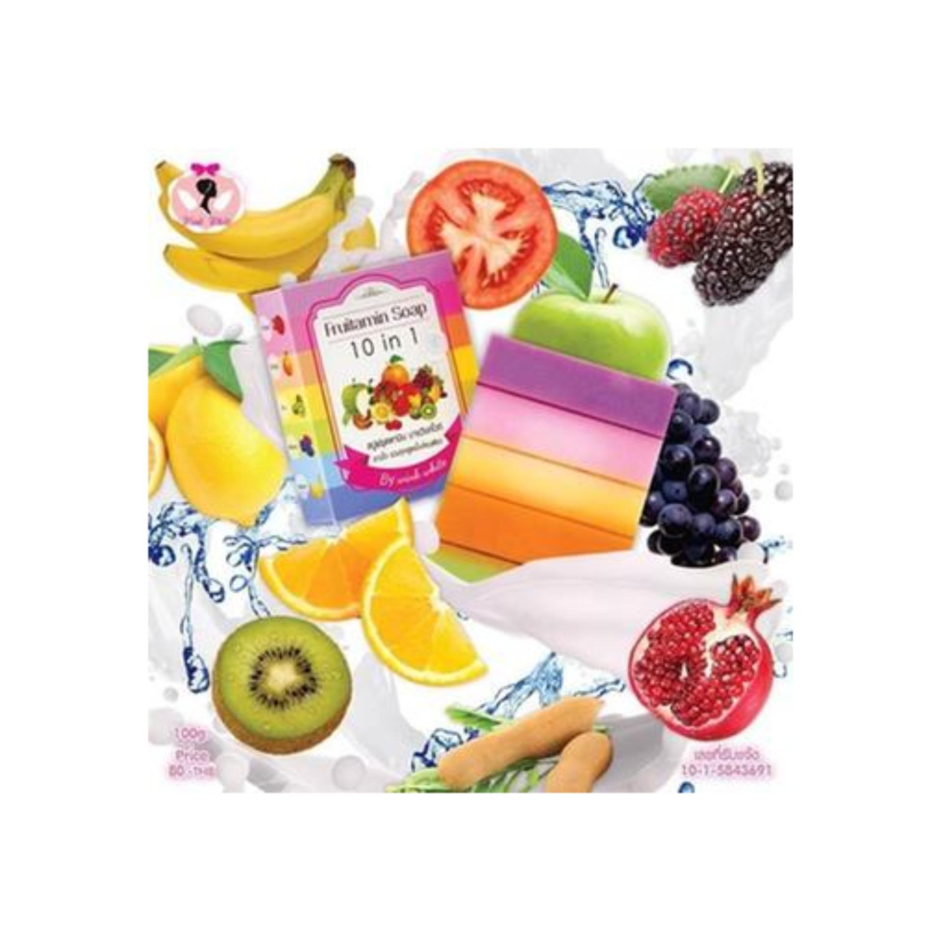 Cek Harga Baru Fruitamin Soap Sabun Frutamin Original Thailand Fruity 10in1 Bpom Rainbow Best Seller Pemutih By Wink White