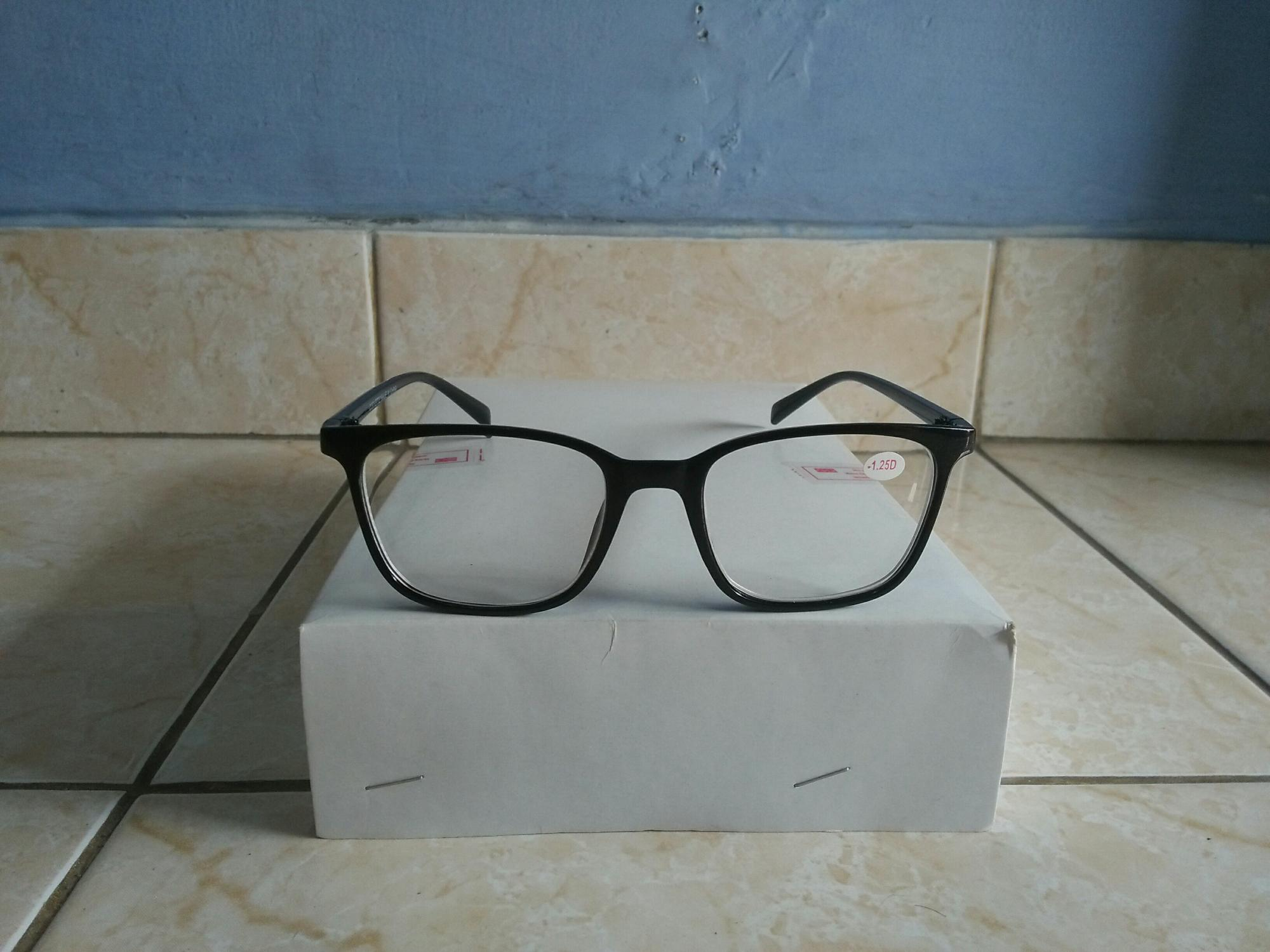 Promo kacamata minus 2.00 kacamata baca murah persegi hitam trendy AI624 6fe529405f