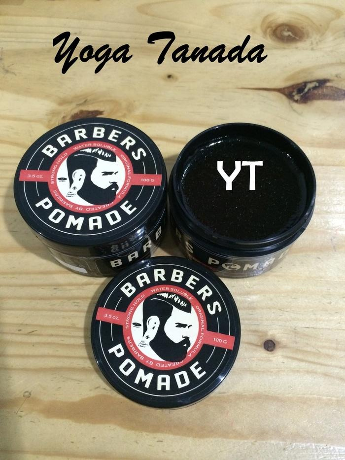 Barbers Pomade Strong Hold Waterbased 100 Gram (FREE SISIR SAKU