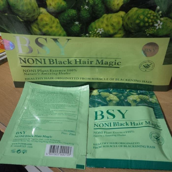 ... Detail Gambar Shampo BSY Noni BPOM Original 100 1 Box 25 Sachet BSY Noni Black Magic
