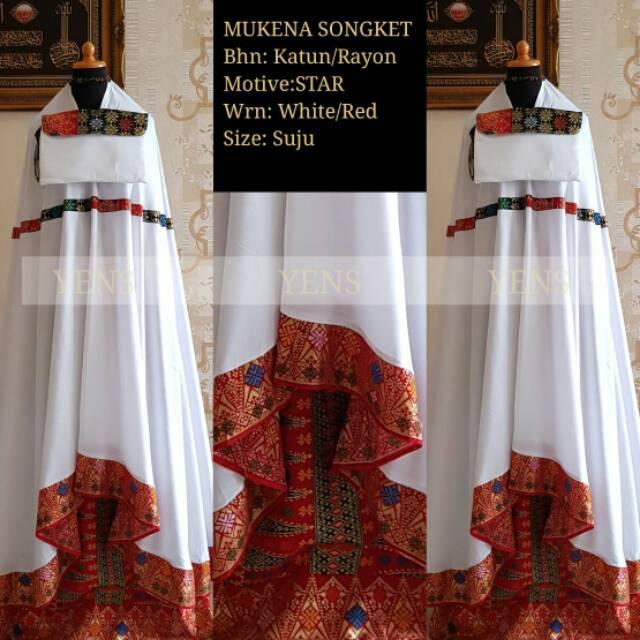 mukena Bali Songket Prada Yens