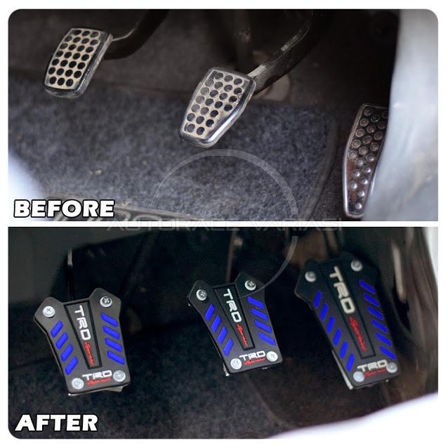 Membuat tampilan interior mobil Anda semakin keren dan Menambahkan kesan racing pada interior mobil anda tanpa menghilagkan fungsi anti slip pedal itu ...
