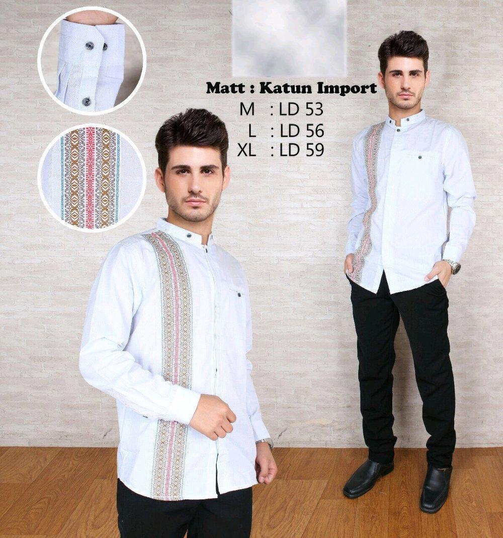 Baju Koko Modern Semi Slimfit KKL03 - Kemeja Muslim - Gamis Pria - Jasko - Pakaian Atasan Muslim Pria Murah - Koko Lengan Panjang di lapak New Trendy newtrendy