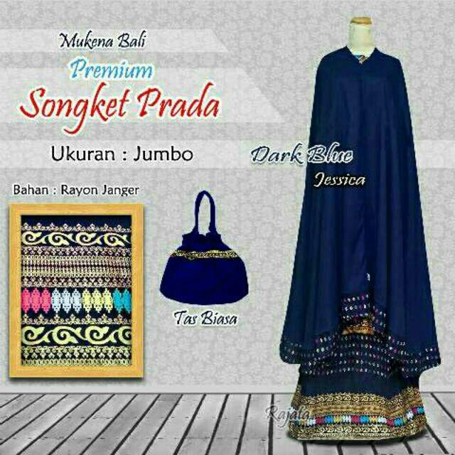 Mukena Songket Bali Prada Ukuran Jumbo