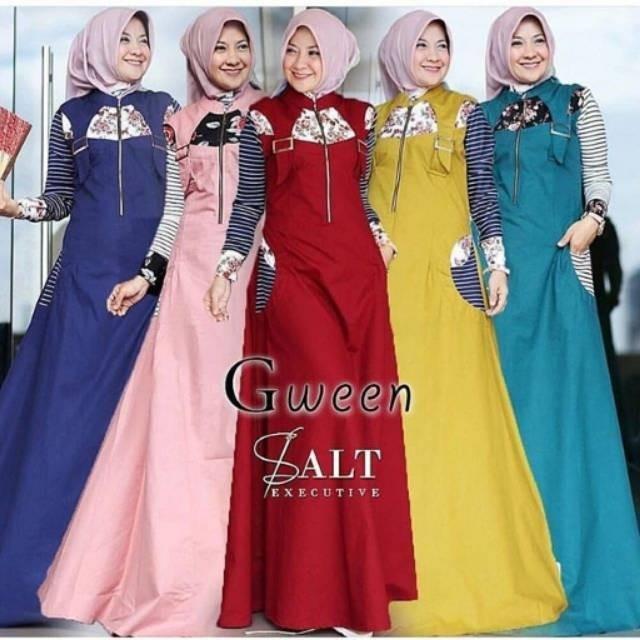 Gween Maxi / Gamis Hijab Murah Wanita  Maxy Harga Grosir Dress Pakaian Online Termurah / Best Seller Tosca