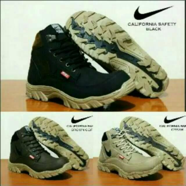 Sepatu Nike California Adidas Boots Safety Pria Casual Boot Murah Sneakers Pria Tracking
