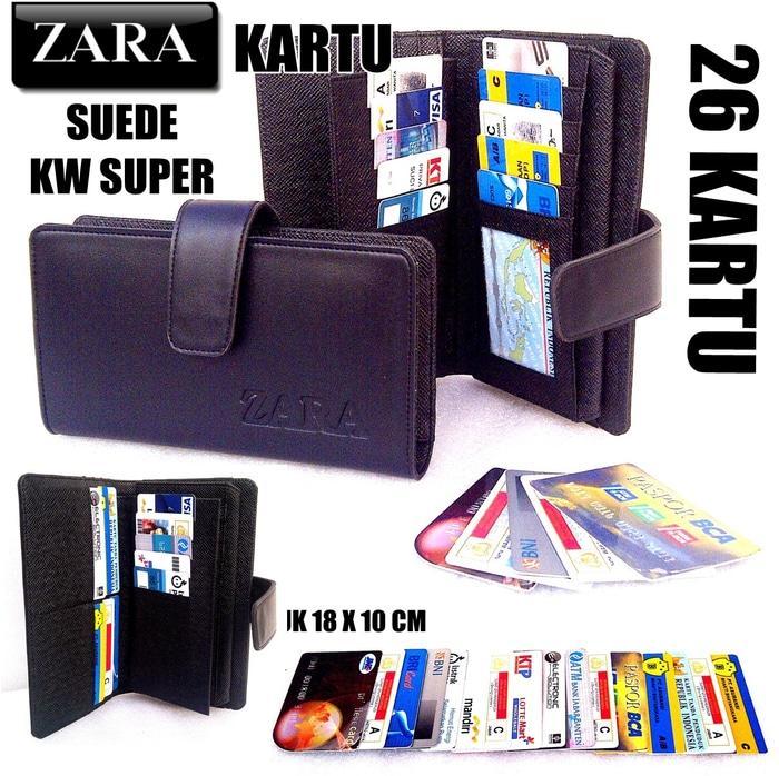 PROMO!!! DOMPET KARTU CARD ZARA WANITA KW SUPER HITAM (26 KARTU) - Hitam - HJLzuV