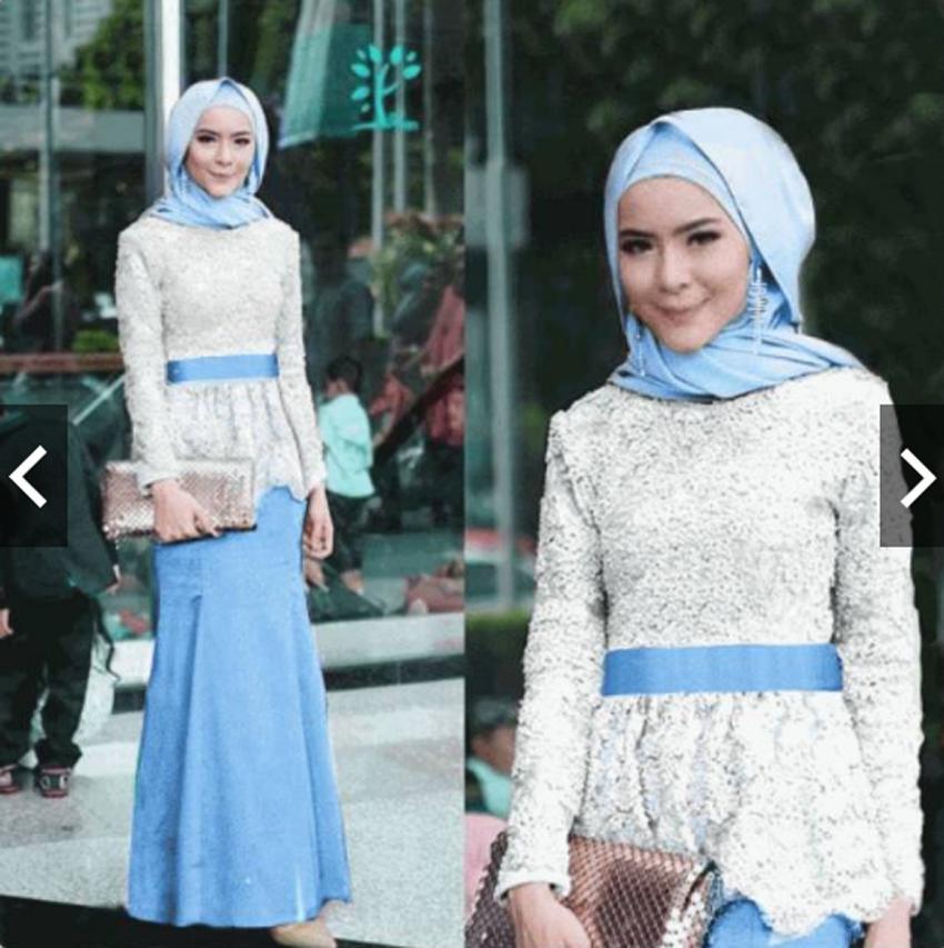 IndonesiaHeritage Setelan Kebaya Modern Brukat - Setelan Batik Wanita - Kebaya Pesta Brokat - Wisuda - Kondangan Muslimah - Kebaya Muslim - Gamis Kebaya - Fashion Busana Muslimah Maxy Dress ihadelia