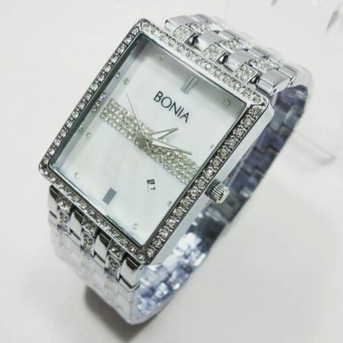 PROMO TERBATAS!!! Jam Tangan Wanita Bonia 5119 Silver Terbaru Murah
