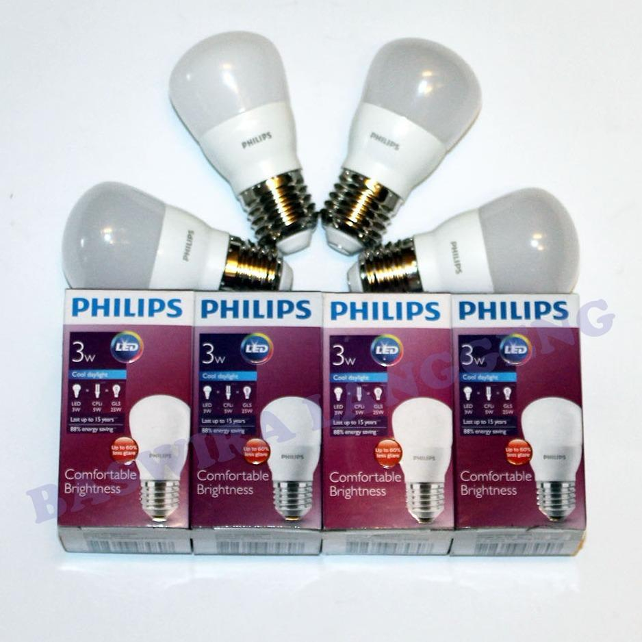 PHILIPS Lampu Led Bulb 3 Watt Paket 4 Pcs