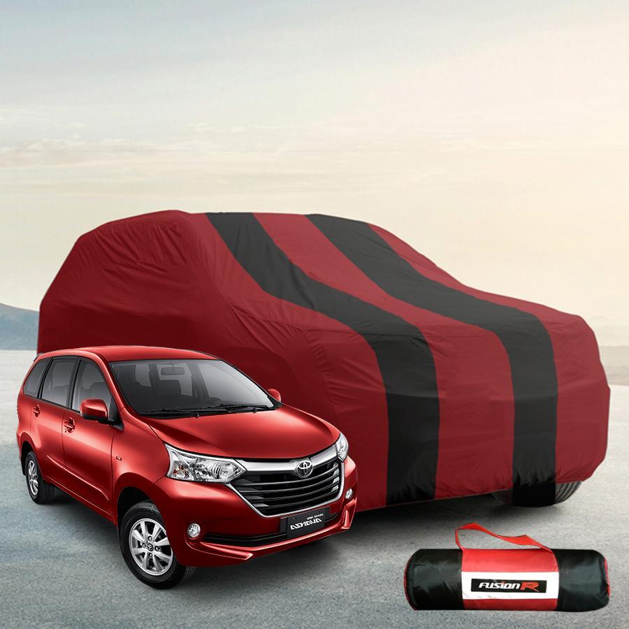 Vanguard Body Cover Penutup Mobil AVANZA Merah Hitam Waterproof / Sarung Mobil AVANZA Premium