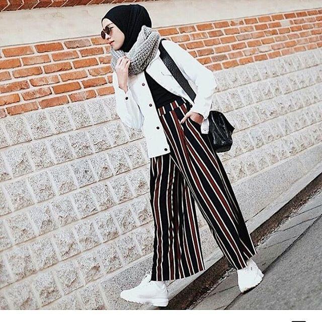Celana Norway Stripe Pants - celana kekinian celana modern Kulot Premium Kulot