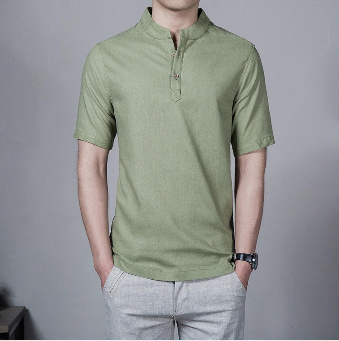 Baju koko Lazuardi bermerek Tangan Pendek Warna Hijau Army Distro Bandung Fashion Pria Keren Terbaru Nyaman di Pakai Simple Eleghan Tersedia 8 warna DISKON