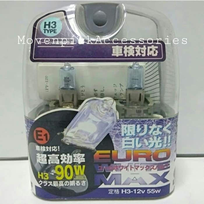Bohlam IPF E31 H3 12V 55W EURO WHITE MAX ORIGINAL JAPAN