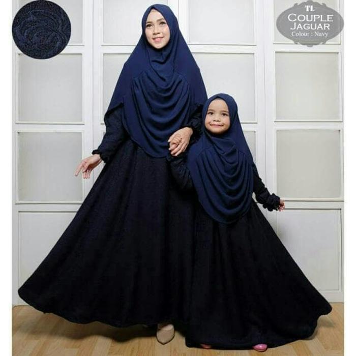 Baju Muslim Syari Jaguar Navi Baju Couple Ibu Dan Anak Stelan Muslim