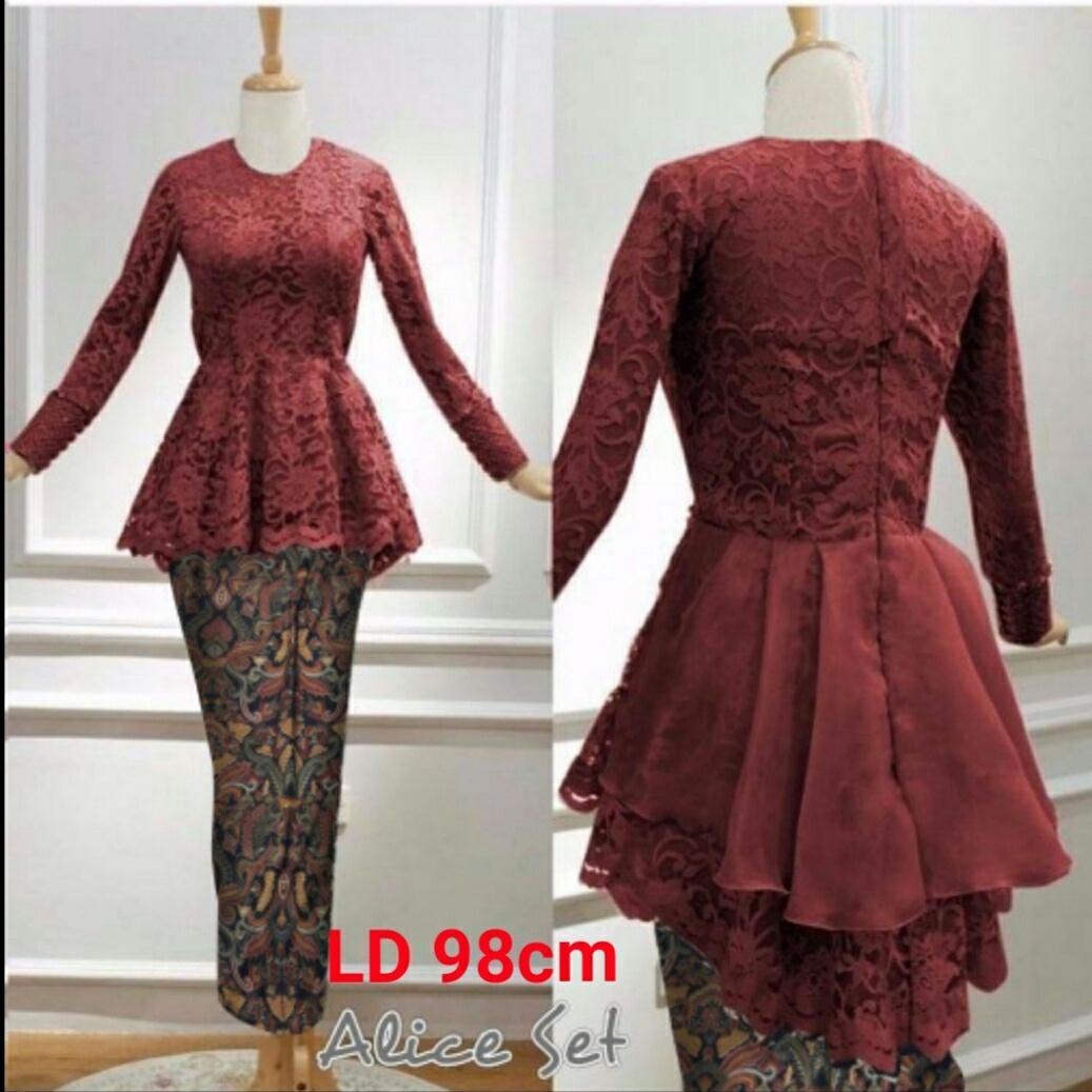 Honeyclothing Setelan Wanita Elica / Setelan Batik / Kebaya kutubaru / Baju Muslim