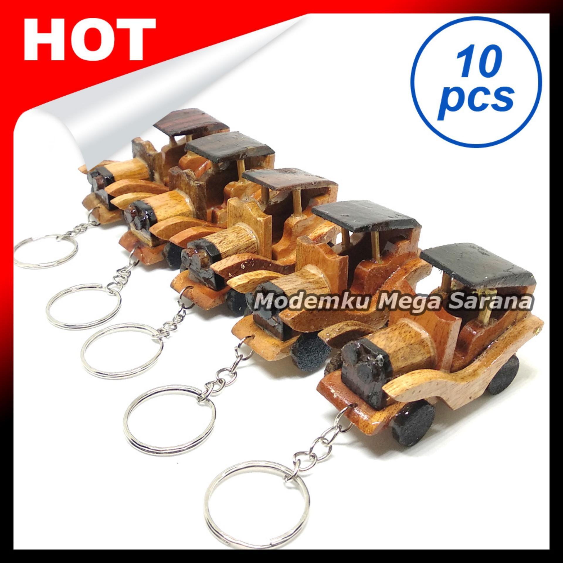 Souvenir Gantungan Kunci Mobil Antik Ontran Kayu - Isi 10pcs