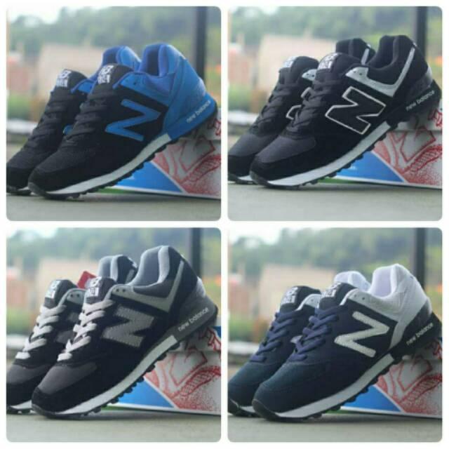 Sepatu Sneakers , New Balance 574 , Casual Sport Pria Keren Gaya Murah Running Sneaker Gaul Olahraga