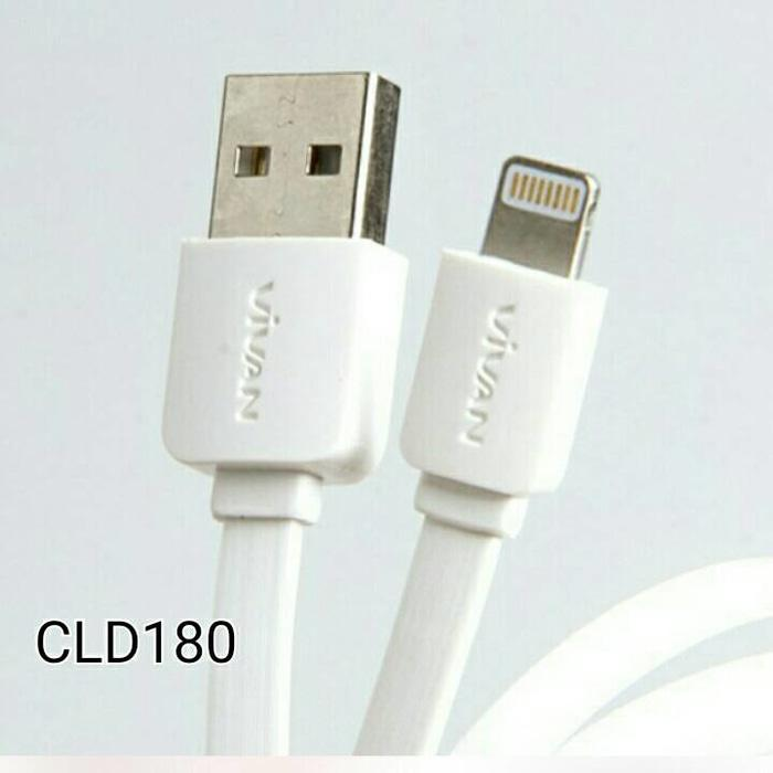 ORIGINAL - Vivan Kabel Lightning iPhone 5 6 Data & Charger cable 180cm - CLD180