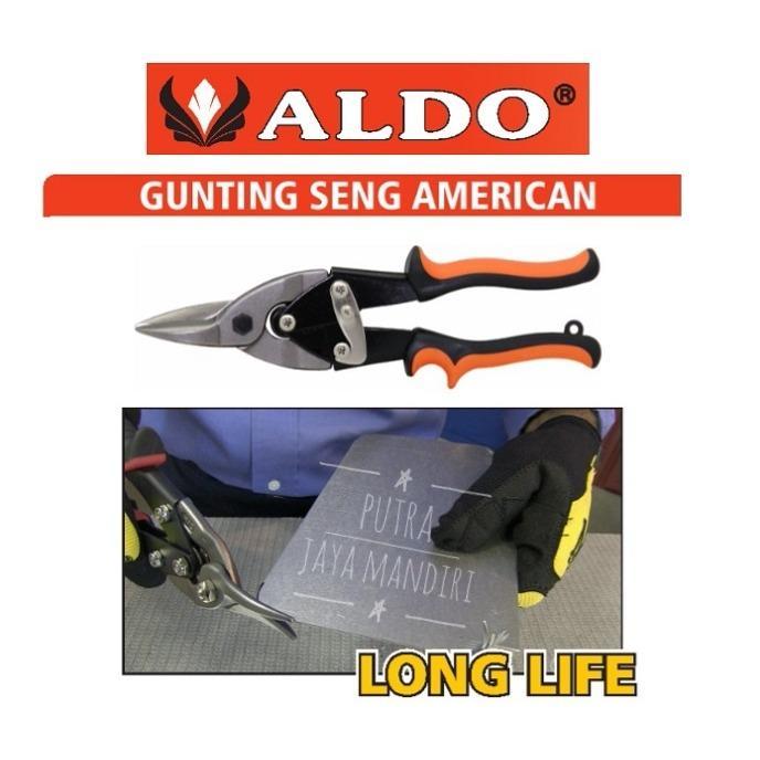 ALDO Aviation Snips / Gunting Baja Ringan / Seng / Plat Holo 10
