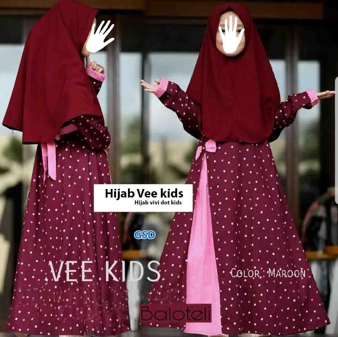 Kemeja Pria/ fashion/ Baju Anak Cewek/ Baju Gamis Anak Cewek/ Baju Maxi Anak/ Longdress Anak Cewek/ Hijab vee Kids/ Hijab Vivi Dot Kids