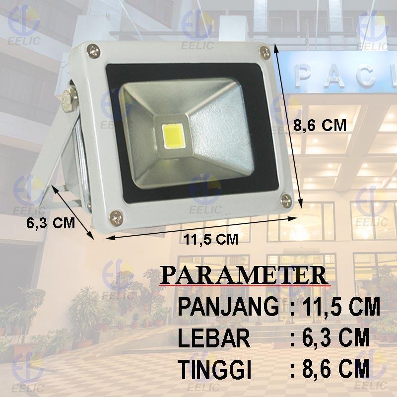 Eelic Kabpem10 10W 6500K Putih - White Lampu Sorot - Flood Light Smd .