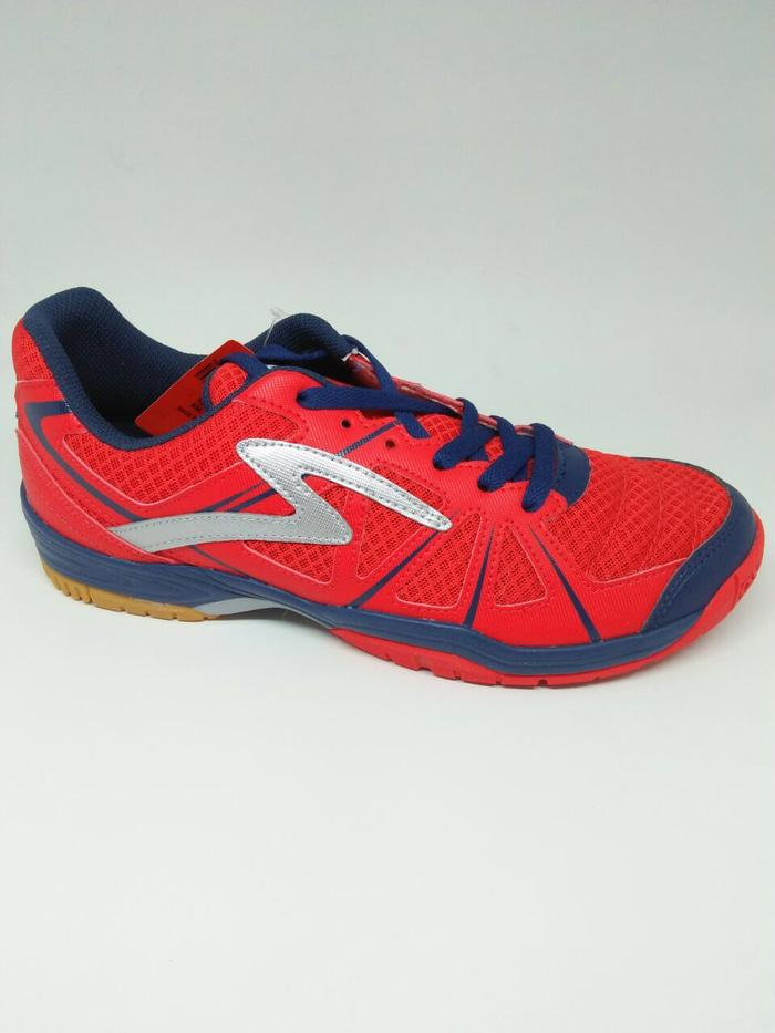 Sepatu bulutangkis specs original Tosser emperor red/blue/silver 2018 - scIvGl