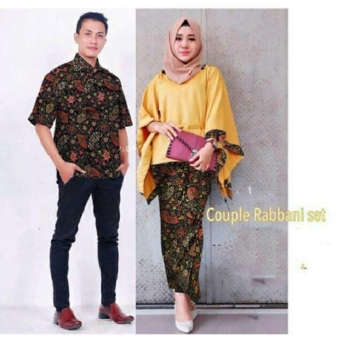 Promo Sale OD- COUPLE RABANI BATIK YELLOW Termurah
