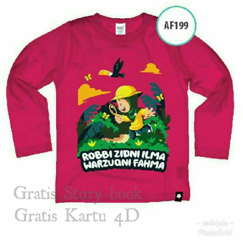 Afrakids Kaos Anak Muslim Branded lengan panjang AF199