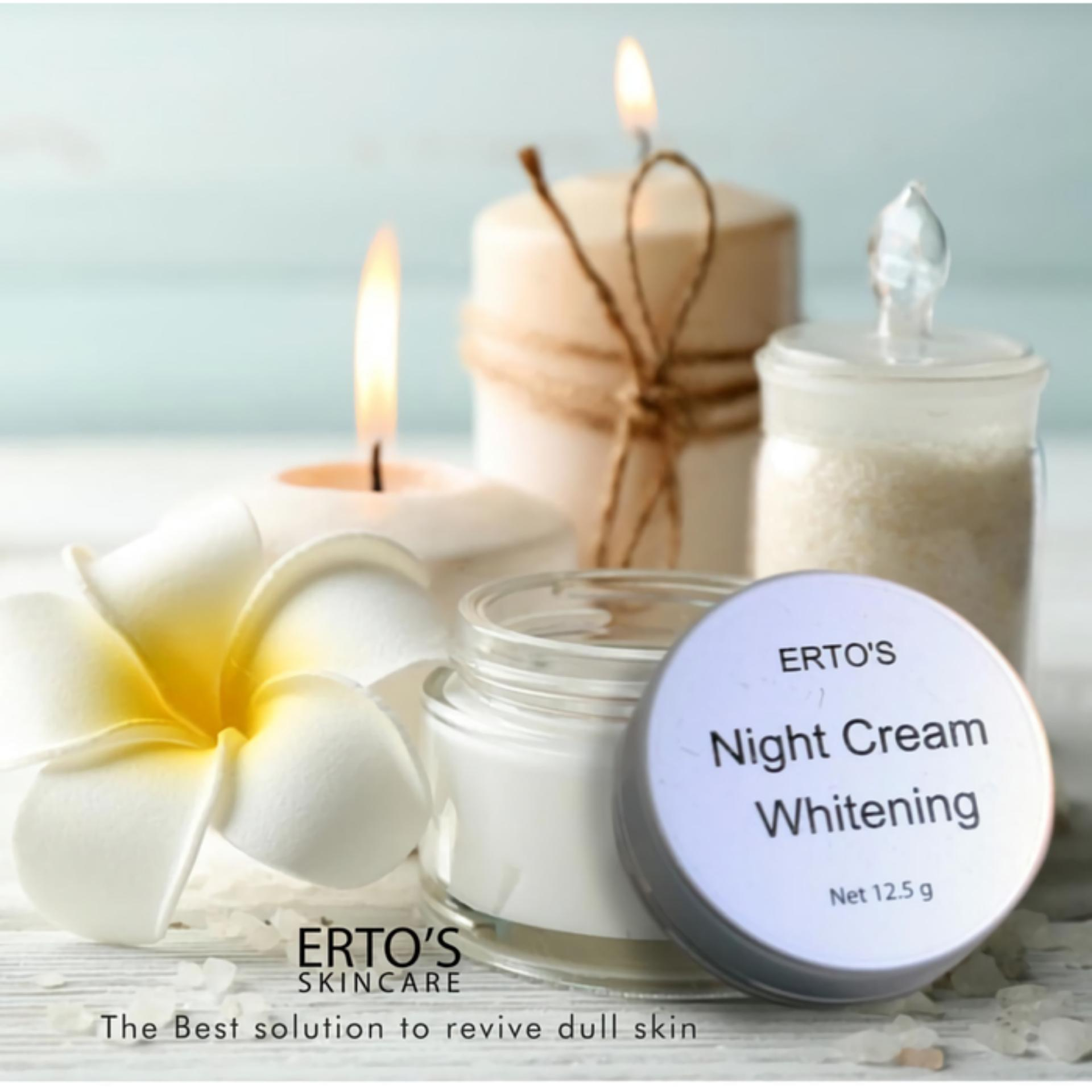 Kehebatan Ertos Night Cream Whitening Original Bpom Dan Harga Update Dermo Care Skincare