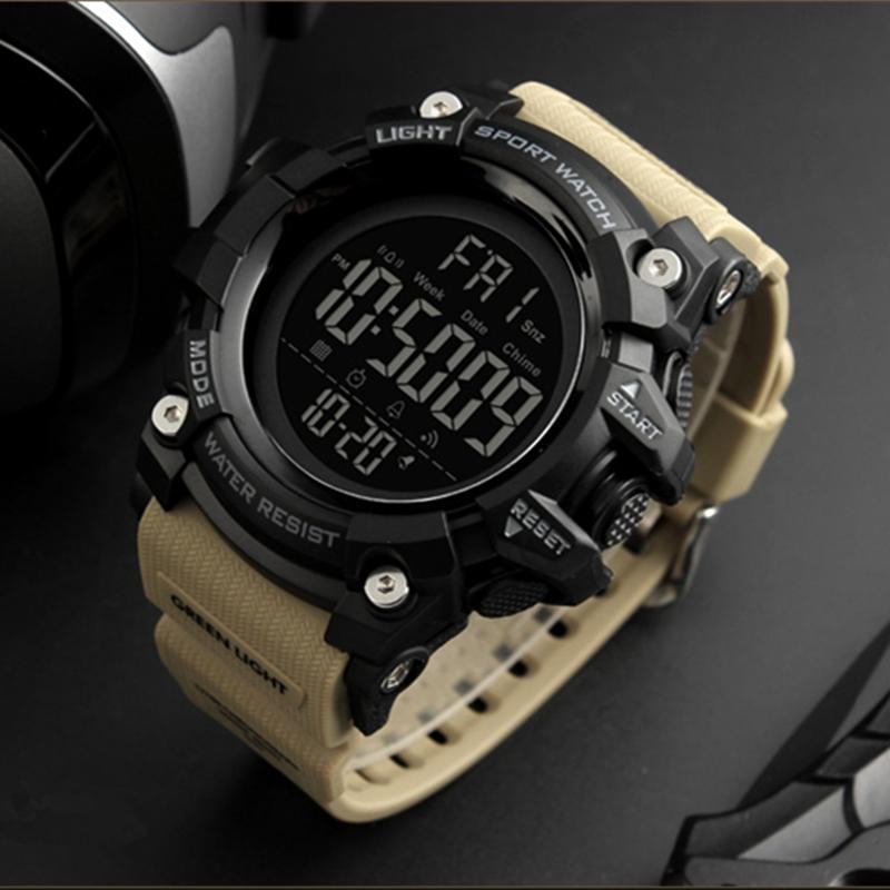 SKMEI Top Brand Mewah Mens Watches Pria Kamuflase LED Digital Perhiasan  Waterproof Olahraga Perhiasan 6c1502b32e