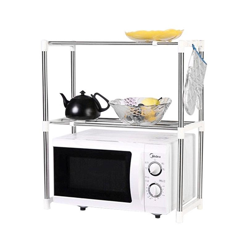 Serba Grosir Murah Microwave Oven Stainless Steel Shelf Storage Rack - Rak Penyimpanan